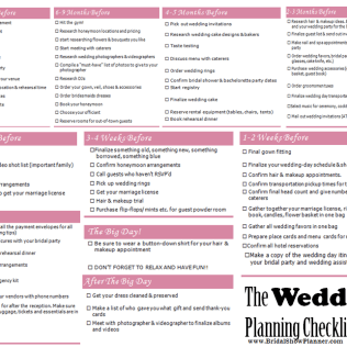 6 Month Wedding Planning Checklist