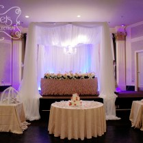 A Crystallized Canopy Wedding Reception Decoration