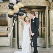 Black And Gold Art Deco Wedding Inspiration