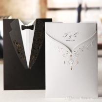 Black And White Blank Wedding Invitations – Expensive Wedding