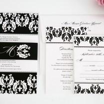 Black And White Damask Wedding Invitations – Wedding Invitations