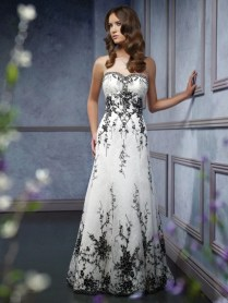 Black And White Wedding Dresses Inspiration