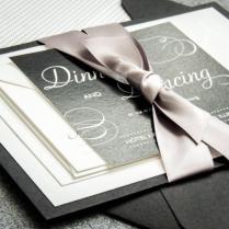 Black And White Wedding Invitations, Black Tie Wedding, Formal