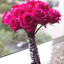 Black White And Hot Pink Wedding Pictures