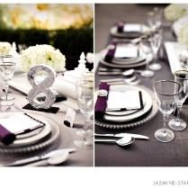 Black White Silver Wedding Themes