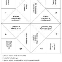 Blank Cootie Catcher Template Blank Cootie Catcher Template