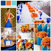 Blue And Orange Wedding