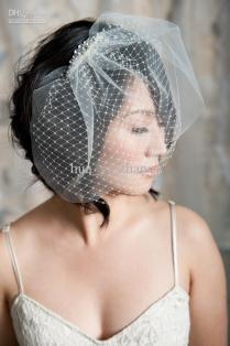 Blusher Short Wedding Veils Uk