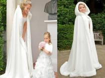 Bridal Cloak Wraps Jackets Winter Bridal Cape Faux Fur Wedding