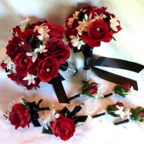 Bridal Flower Ornaments And Bouquet Import Red Rose Bridal