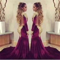 Burgundy And Gold Wedding Dresses