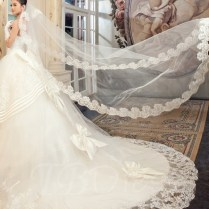 Cheap Long Cathedral Veils & Lace Cathedral Wedding Veils Online