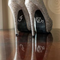 Chic Blinged Out Wedding Shoes
