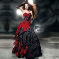 Compare Prices On Black And Red Gothic Wedding Dress