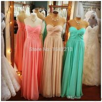 Compare Prices On Coral And Mint Green Wedding Dresses
