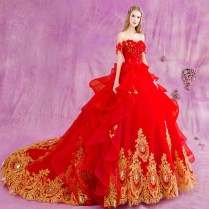 Compare Prices On Red Wedding Dress