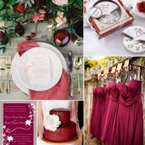 Cranberry Wedding Color Inspirations For Fall 2014