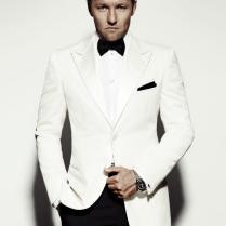 Custom Made White Mens Wedding Suits Groom Tuxedos Wedding Suits