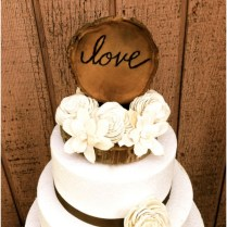 Cute And Chic Rustic Wedding Cake Toppers