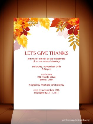 Fall Wedding Invitation Templates