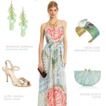 Floral Maxi Dress For A Spring Wedding