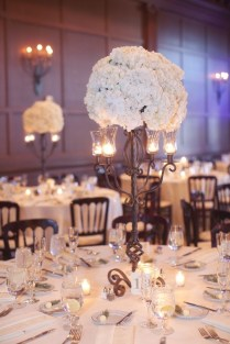 Flower Wedding Centerpieces Candles And Flowers