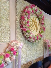 Flower Backdrop For Thai Wedding Ceremony At 137 Pillars House