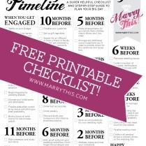 Freebie Friday! Printable Wedding Planning Timeline