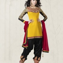 Georgette Patiala Suits Online, Custom Stitching, Inquire For