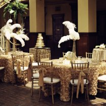 Glittery Gold Gatsby Inspired Wedding Shows How One Color Weddings