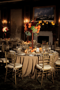 Gold Burgundy Wedding Reception