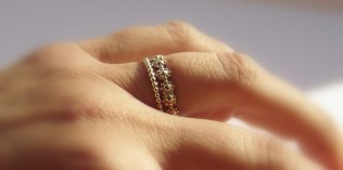 Gold Filled Daisy Chain Stackable Wedding Ring & By Nadinejewelry