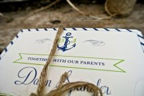 Green Ivory Wedding Invitations Nautical Theme