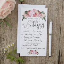 Hand Illustrated Floral Wedding Invitations