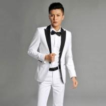 Haoyu White Suit Slim Korean Studio Wedding Wedding Dress And