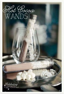 Hot Cocoa Wands {a Perfect Fall Or Winter Party Favor