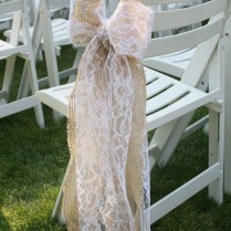 How To Make Burlap Bows For Wedding Chairs Wedding Chairs And
