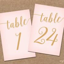 Instant Download Printable Table Numbers 1
