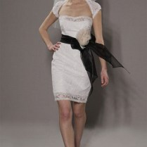 Lace Short Wedding Dresses With Bridal Veil