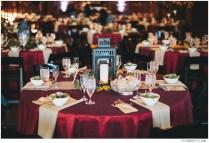 Lantern Tree And Twinkling Lights Wedding Reception Indoors