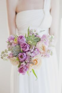 Lilac Colored Wedding Bouquet