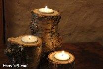 Log Candles Yellow Birch Rustic Wedding Cabin By Thatfamilyshop