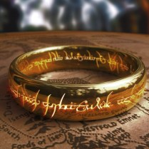 Lord Of The Rings Black Tungsten Carbide One Ring My Inner Geek Is
