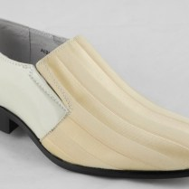 Mens Patent Leather Lined Dress Wedding Shoes Ivory Cream Size 6 7