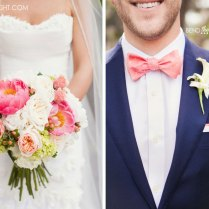 Navy Blue And Coral Wedding Colors Pop Of Color Goes A Long Way