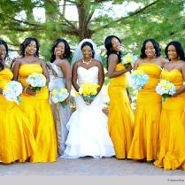 Nigerian Wedding Yellow Bridesmaids Dresses S67 Photography 3
