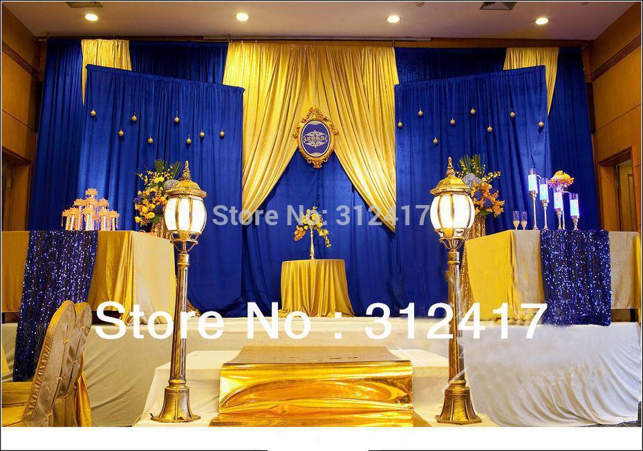 Wedding Theme Blue And Gold