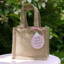 Personalised Wedding Gift Bag & Keyring By Andrea Fays