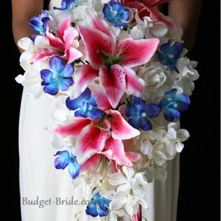 Pink And Blue Wedding Flowers, Think I Found Kinda What I Want For