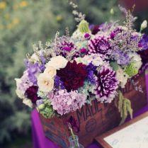 Plum Purple Wedding Flowers Wedding Centerpiece